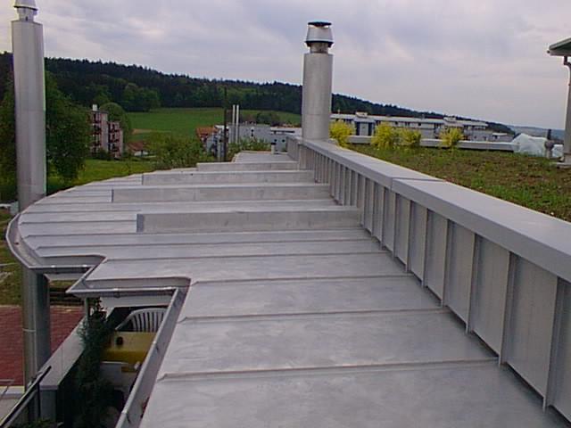 Dach aus Chromstahl für lange Lebensdauer