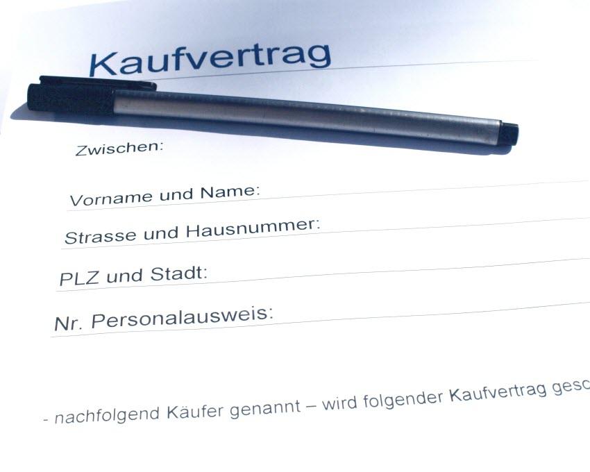 Kaufvertrag für Grundstückskauf