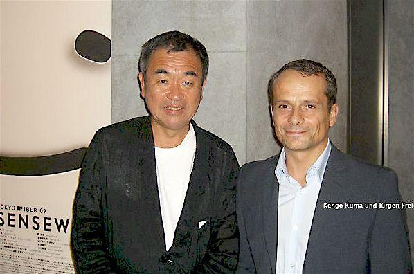 Kengo Kuma mit Jürgen Frei
