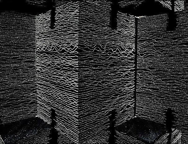 Dekorative Wand aus Lichtbeton
