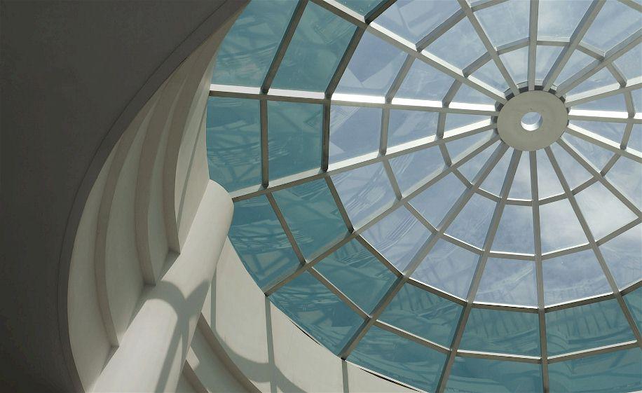 Verglastes Atrium