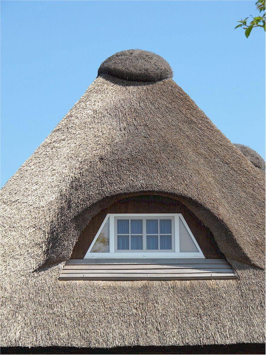 Reet-gedecktes Haus