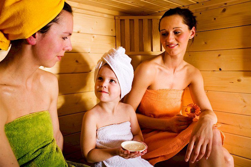 Im Saunabereich