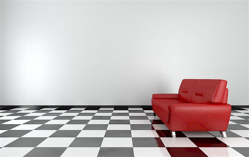 Sofa im Beerenton