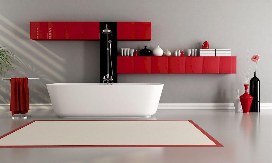 Bad und Dusche im Desigernlook