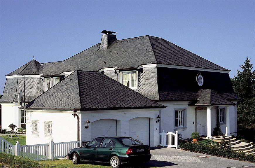 Dach aus Schiefer