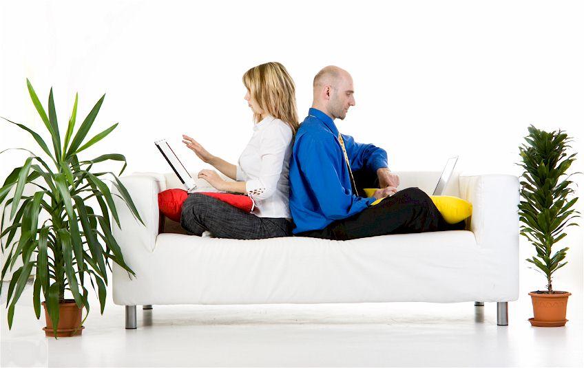 Möbel und Pflanzen