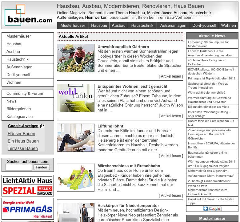 Screen bauen.com