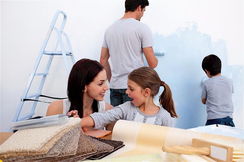wohnen tricksen mit farben und deko mein bau. Black Bedroom Furniture Sets. Home Design Ideas