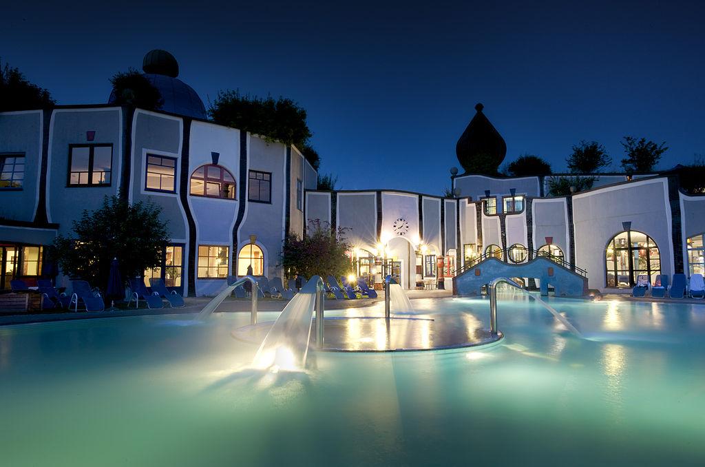 Das Hotel bzw. die Therme Rogner Bad Blumau