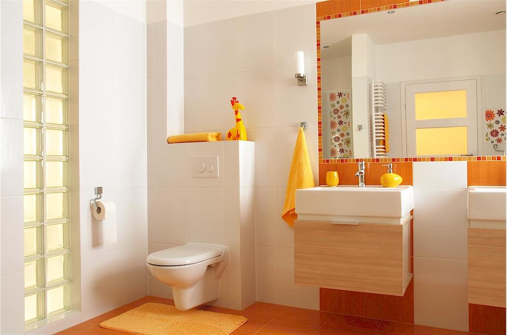 Frische Farben Erobern Moderne Badezimmer Foto Bialasiewicz Clipdealer