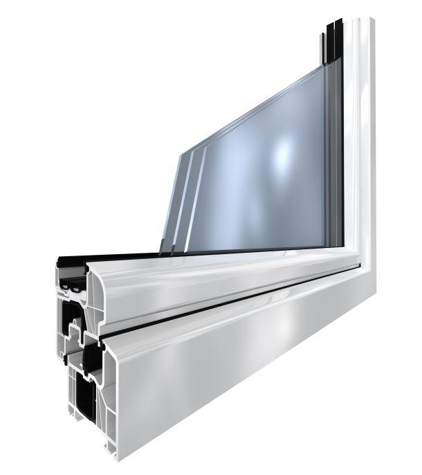 Warmfenster haben Dreifach-Wärmeschutzverglasung, einen wärmegedämmten Randverbund und einen hochgedämmten Fensterrahmen