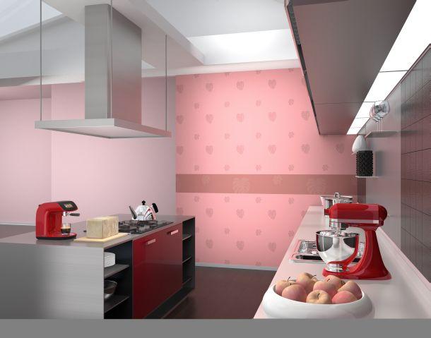 die k che tapezieren wir geben ihne wertvolle tipps mein bau. Black Bedroom Furniture Sets. Home Design Ideas