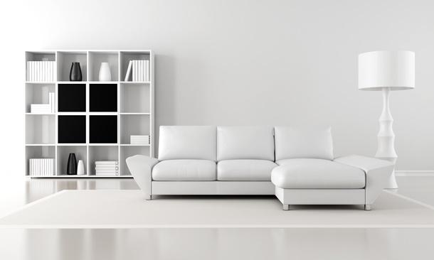 Bringen Sie Frische ins Zimmer, indem Sie es weiß gestalten! (Bildquelle: archidea, clipdealer.de)