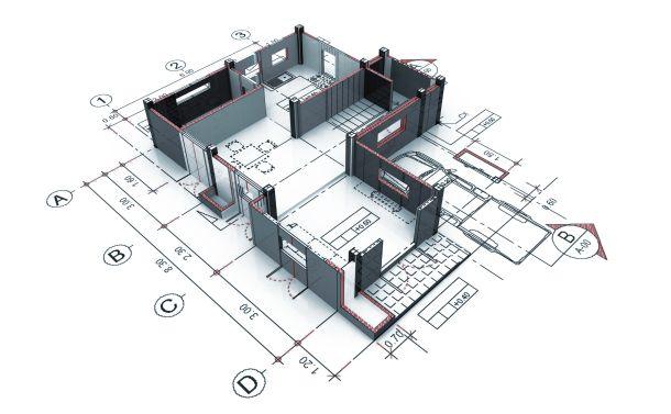 Die Grundrissgestaltung ist abhängig von der Wahl des Häusertyps. (Fotoquelle: munlika / clipdealer.de)