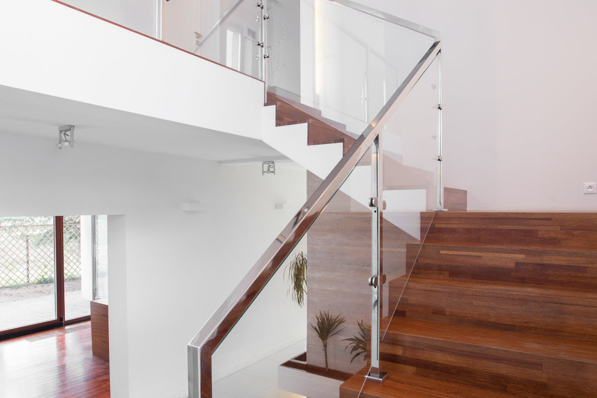 Treppengelander Aus Glas Und Edelstahl Mein Bau