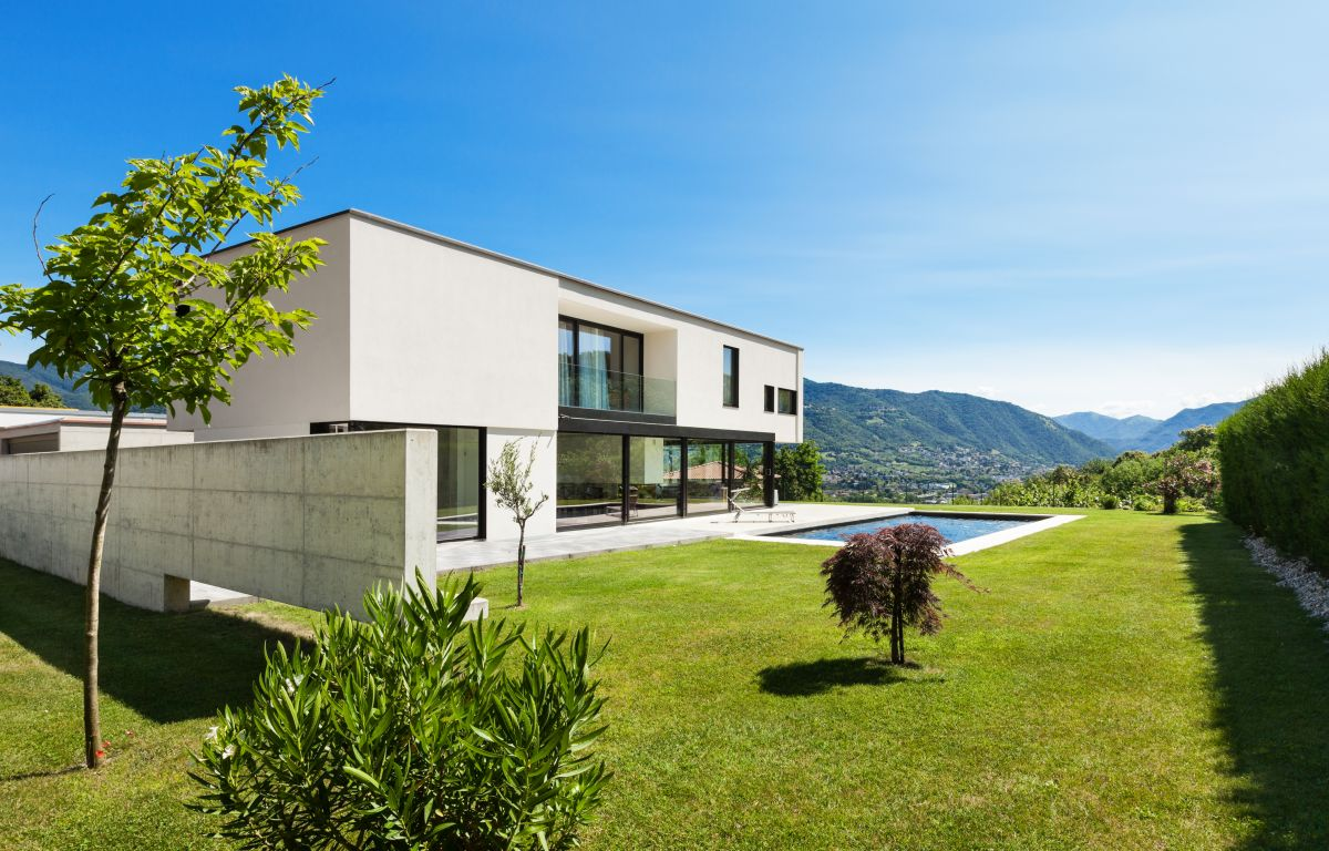 Haus im puristischen Bauhausstil