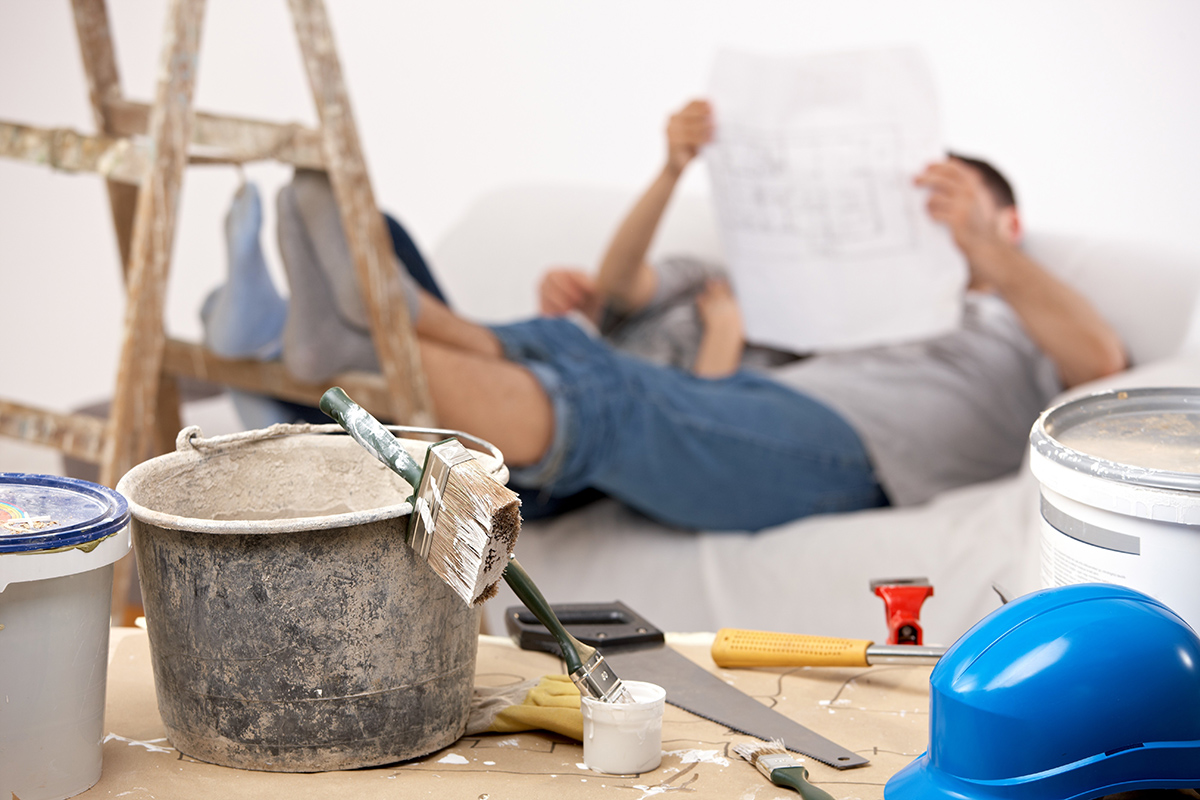 Einen Überblick über die Planung der Renovierung zu haben, ist sehr wichtig.
