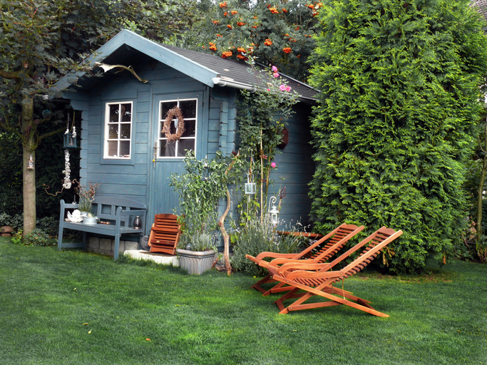 Gartenhaus als Spielzimmer