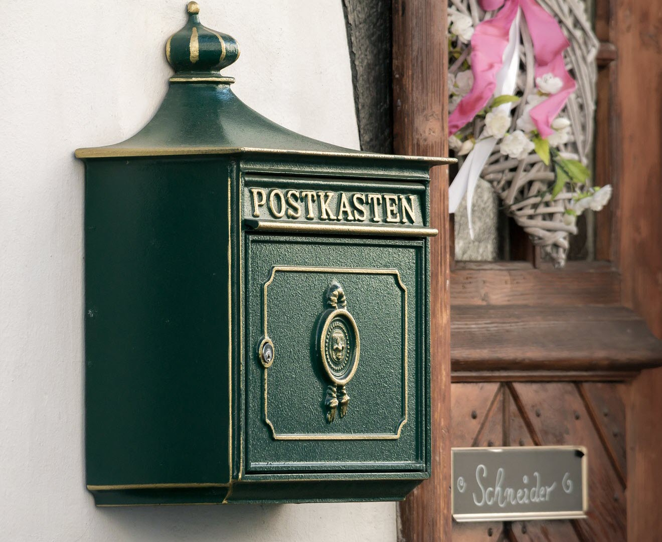 Der Briefkasten ist ein wichtiges Designelement