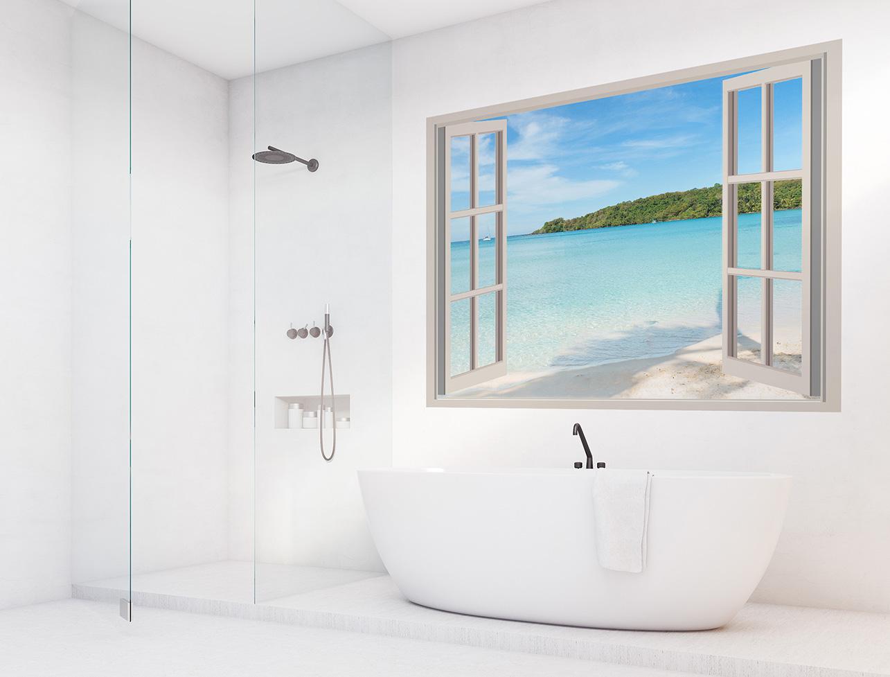 Fototapete Strand im Badezimmer