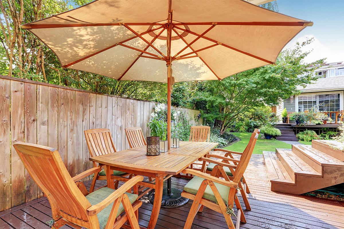 Die Terrassenplanung muss die Bedürfnisse der Hausbewohner mit einbeziehen.