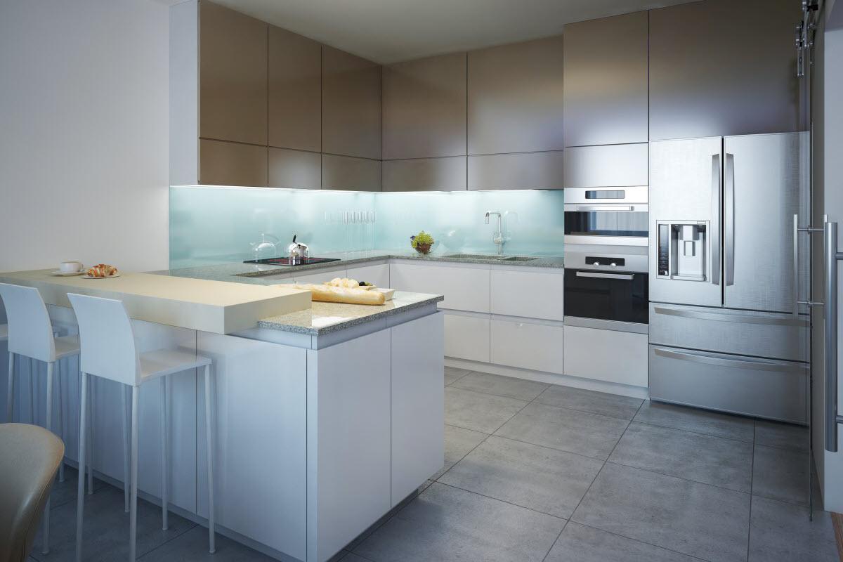 ergonomisch gestaltete moderne Küche