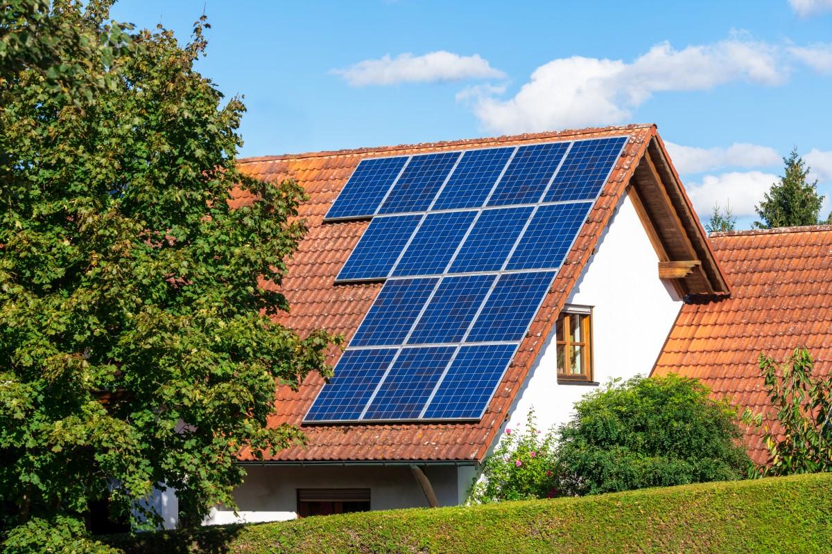 PV-Anlage auf Einfamilienhaus