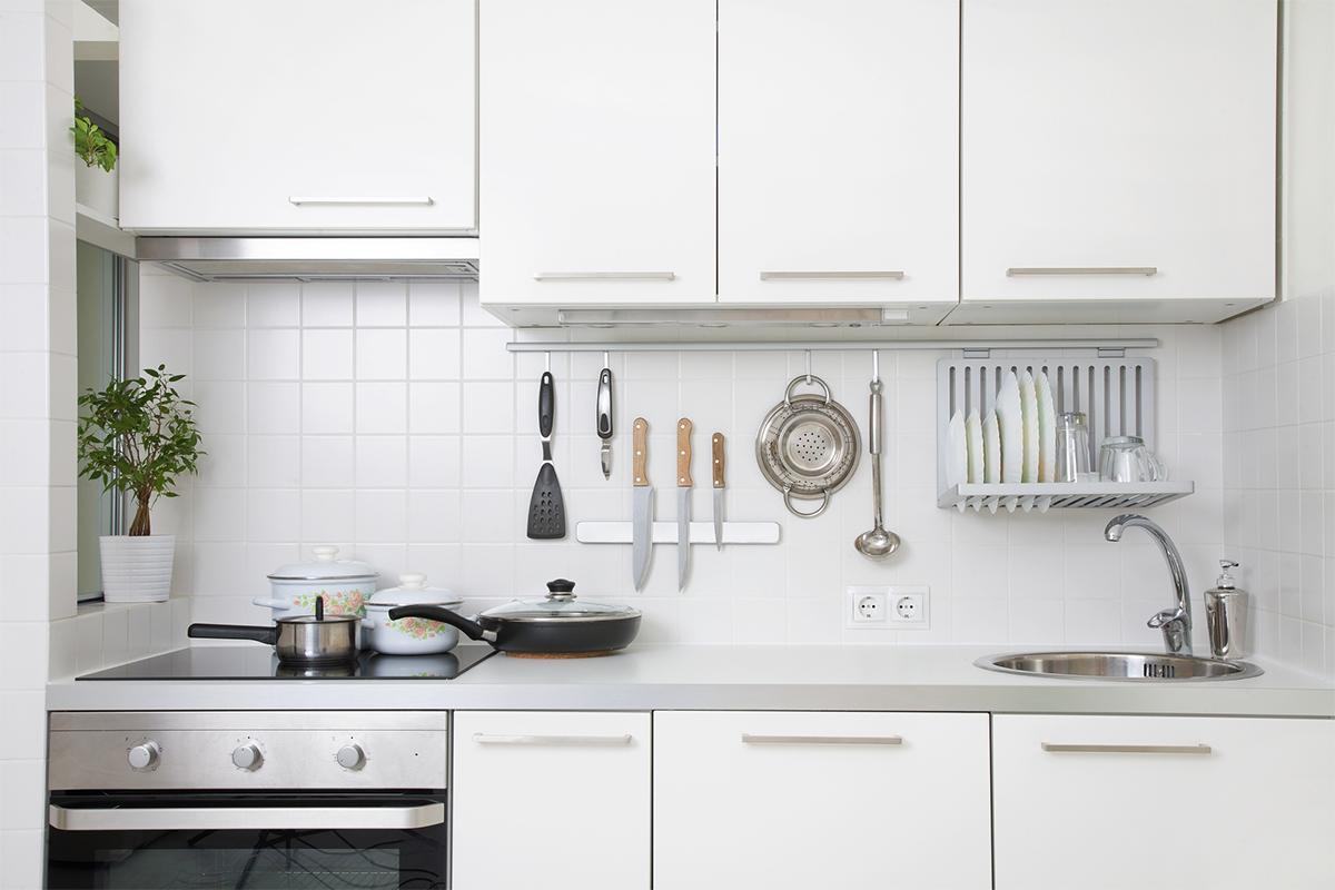 Bei näherem Hinsehen findet sich auch in der Küche noch ein wenig Platz!