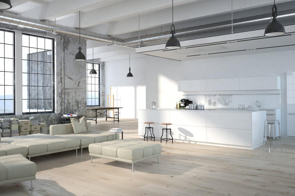 loft in open plan layout