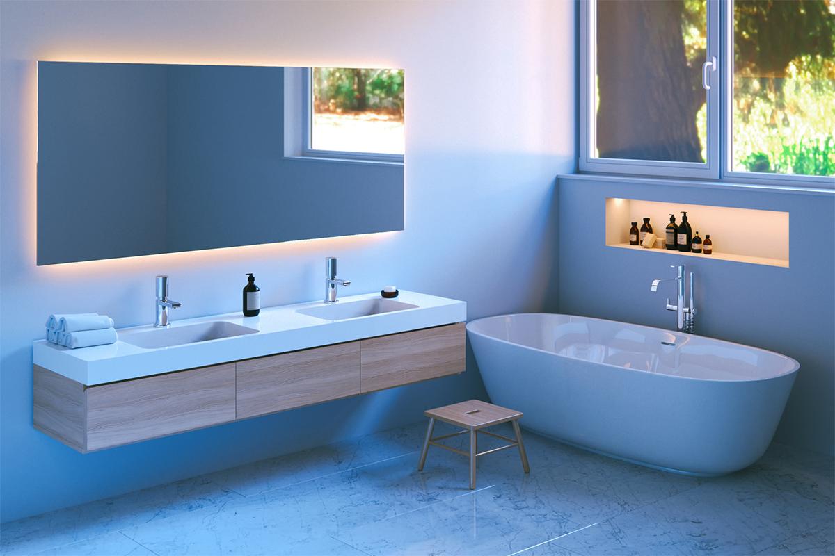 Ein Spiegel muss größenmäßig in den Raum und zur Einrichtung passen.